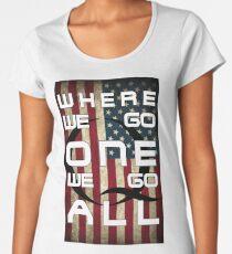 Q - QANON - WHERE WE GO ONE WE GO ALL (UPDATE read description) Women's Premium T-Shirt