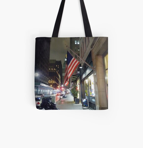 downtown All Over Print Tote Bag
