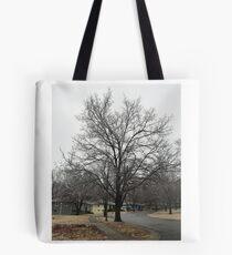 Frozen tree Tote Bag
