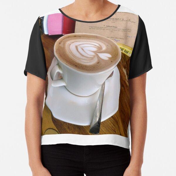 A cup of Mocha coffee Chiffon Top