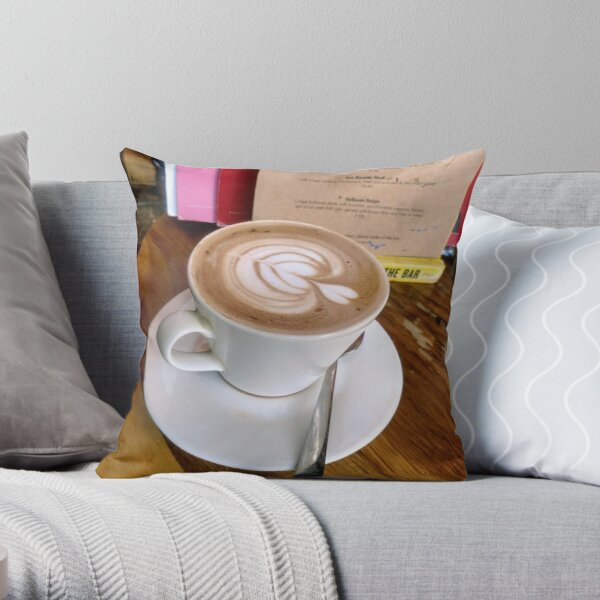 A cup of Mocha coffee Throw Pillow