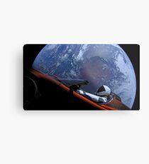 SpaceXs Starman Metalldruck