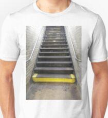 Stairs, New York, Manhattan, Brooklyn, New York City, architecture, street, building, tree, car,   Unisex T-Shirt