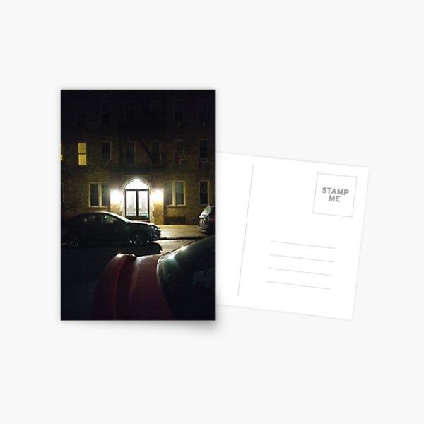 #Night, #NewYork, #Manhattan, #Brooklyn, #NewYorkCity, #architecture, #street, #building, #tree, #car Postcard