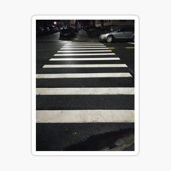 #Zebra #crossing, New York, #Manhattan, #Brooklyn, New York City, architecture, street, building, tree, car,   Sticker