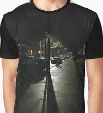 Night, New York, Manhattan, Brooklyn, New York City, architecture, street, building, tree, car,   Graphic T-Shirt