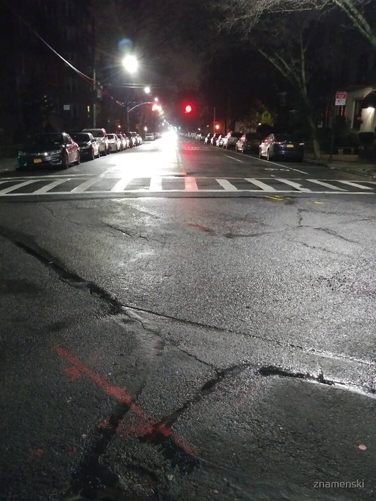 Asphalt, New York, Manhattan, Brooklyn, New York City, architecture, street, building, tree, car,   by znamenski