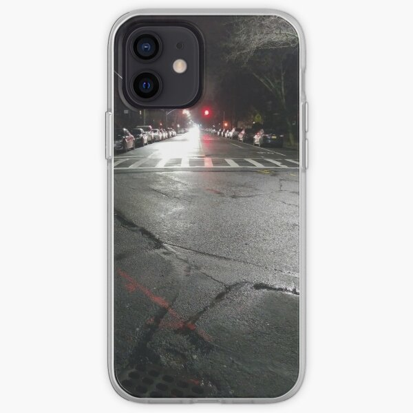 Asphalt, New York, Manhattan, Brooklyn, New York City, architecture, street, building, tree, car,   iPhone Soft Case