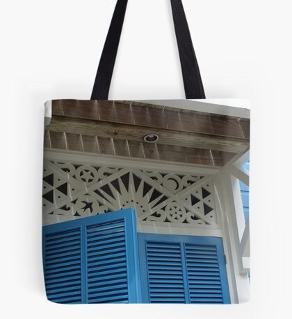 Blue Shutters Tote Bag