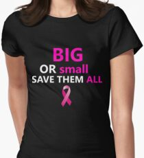 Funny Beat Breast Cancer T-Shirt for Women Girls  Women's Fitted T-Shirt