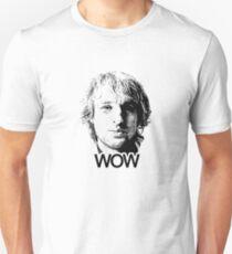 "Owen Wilson ""Wow"" - Black / Transparent Unisex T-Shirt"