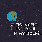 The World is Your Playground by johannalane-art