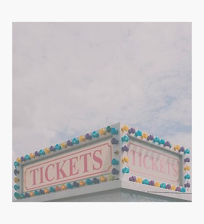 Tickets Photographic Print