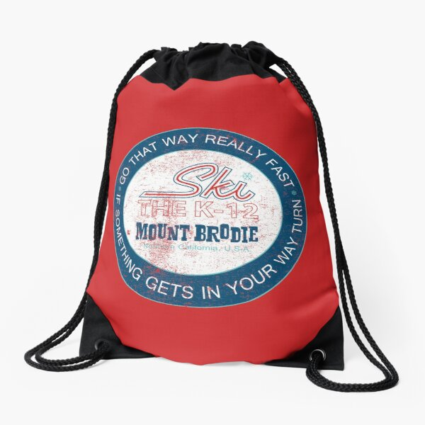 Brodie King: Go That Way Really Fast Drawstring Bag
