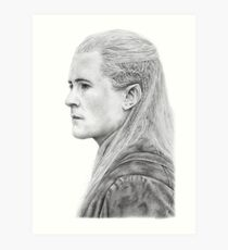 Legolas graphite drawing Art Print