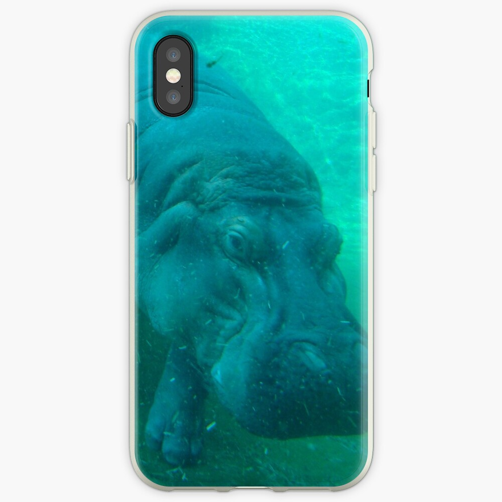 hippo love iPhone-Hülle & Cover