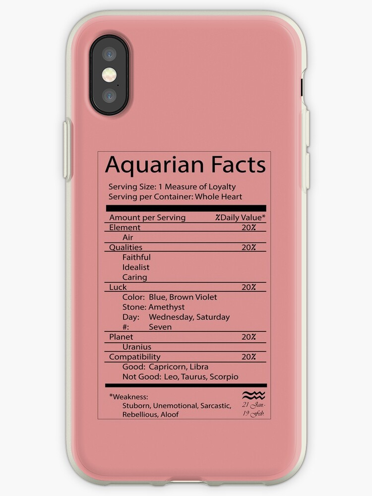 'Aquarius Facts ' iPhone Case by ArtByMissy