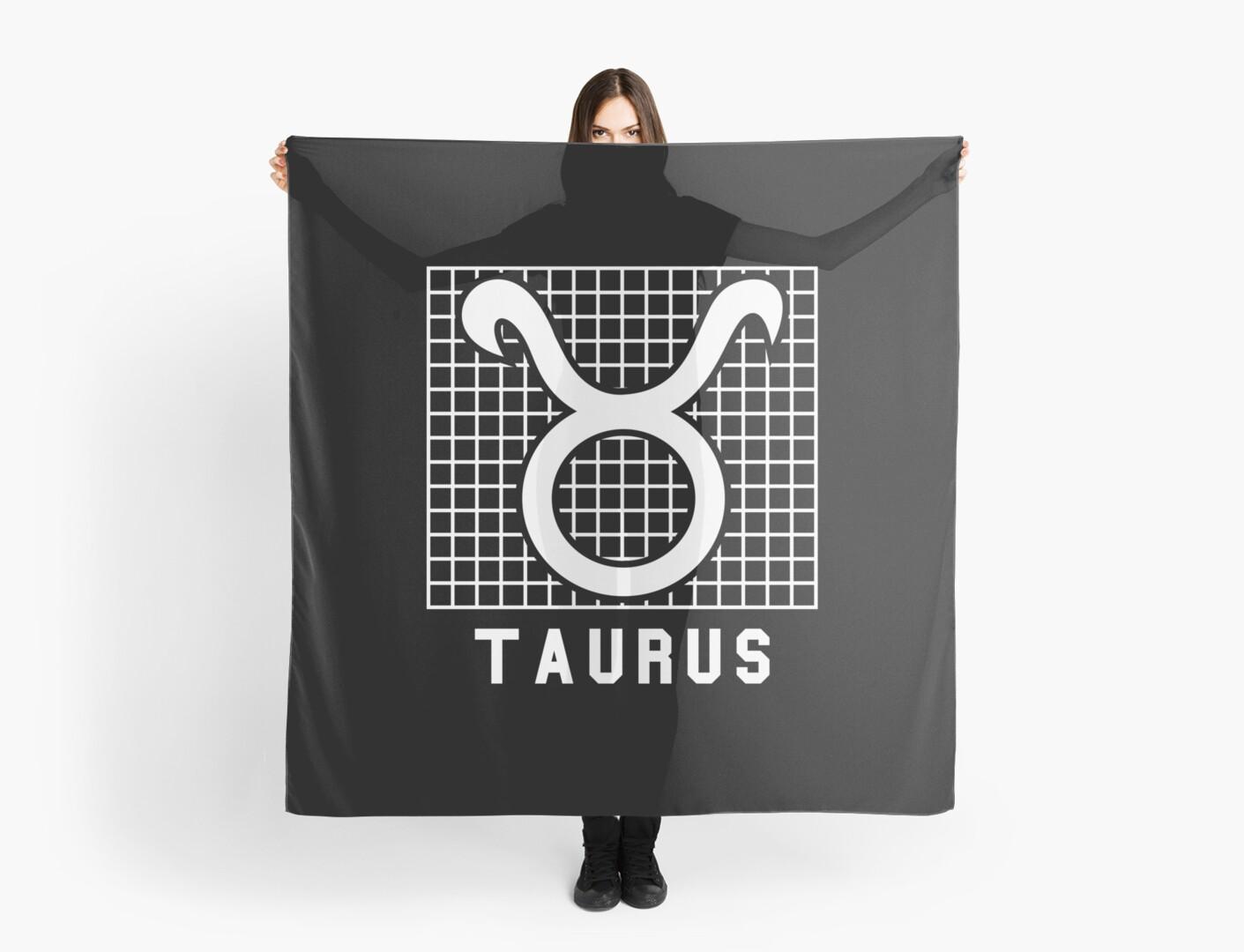 Taurus Zodiac Sign Print Scarves By Mistergoodiez Redbubble