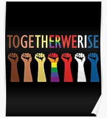 Together We Rise Unity Design Poster