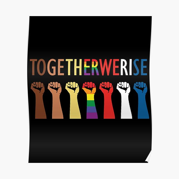 Together We Rise Unity Design Poster