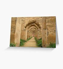 Meknes granary Greeting Card