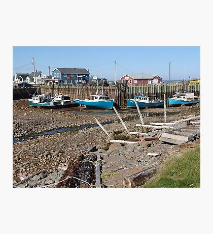 Boats at Low Tide Photographic Print