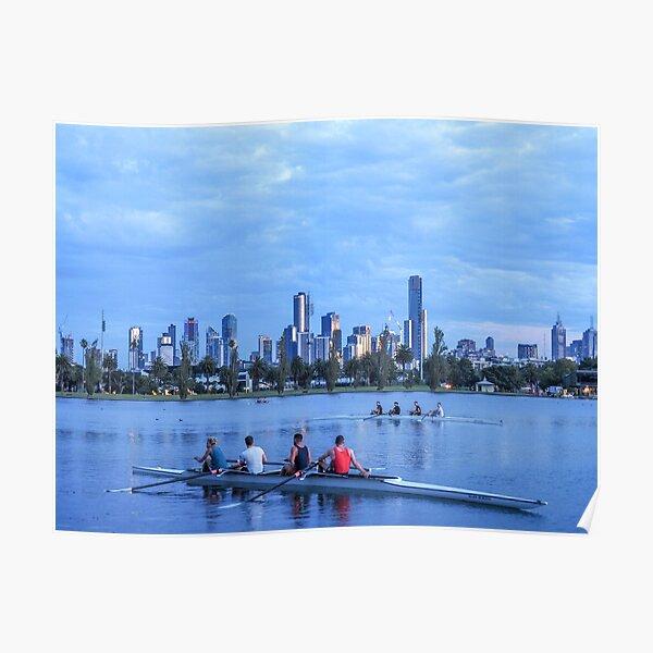 ALBERT PARK LAKE ROWING Poster