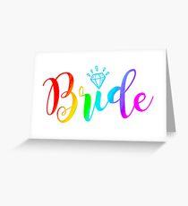 Bride - Lesbian Greeting Card