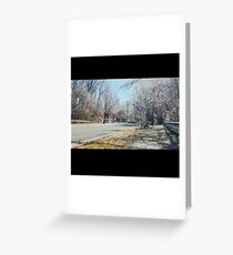 painted winter scene Greeting Card