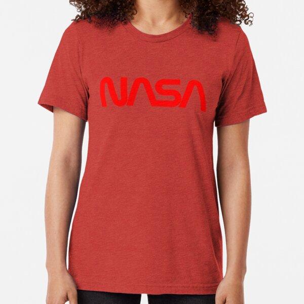 "Retro NASA logo - NASA ""Worm"" Logo - Vintage NASA Tri-blend T-Shirt"