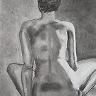 Nude Back in Charcoal by Maryanne Fenech-Gatt