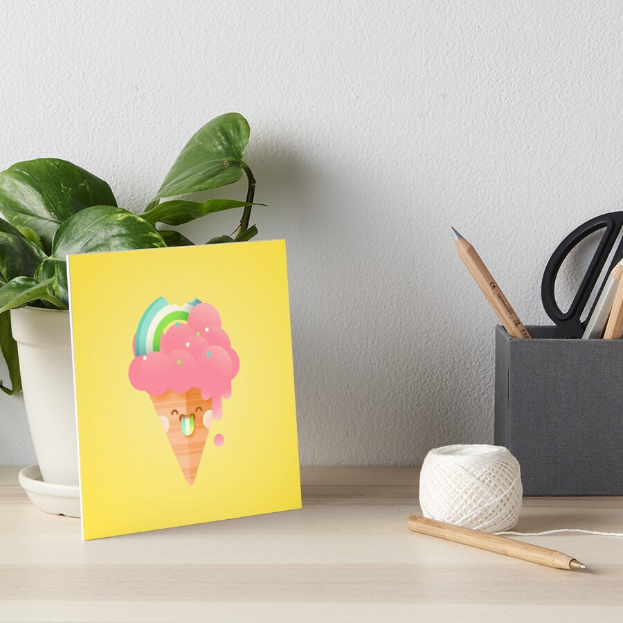 Strawberry Rainbow Art Board Print