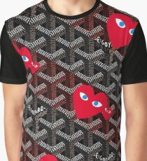 Goyard Love comme des garcons red Play Graphic T-Shirt