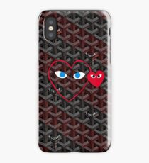 Goyard Love comme des garcons red Play Outline iPhone Case/Skin