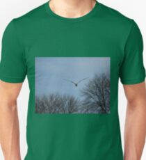 Seagull Over Trees Unisex T-Shirt