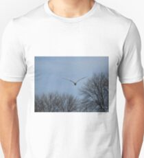 Seagull Over Trees Unisex T-Shirt