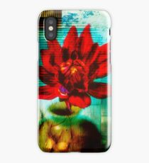 Distressed abstract flower in vase iPhone Case