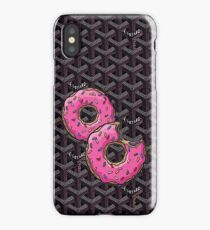 Goyard Love comme des garcons red Play with donut fun iPhone Case/Skin