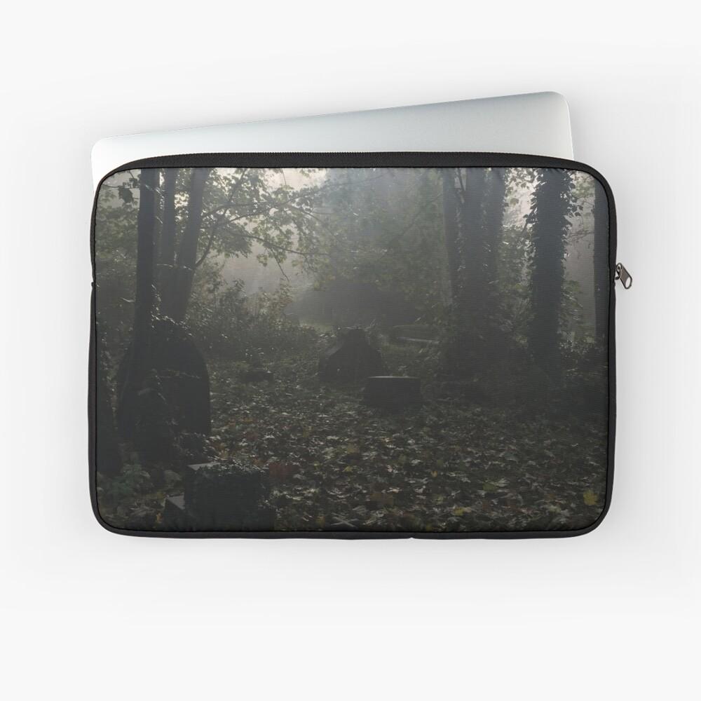 Misty graveyard Laptop Sleeve
