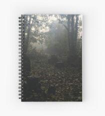 Misty graveyard Spiral Notebook