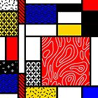 Mondrian in a Memphis Style II by Hell-Prints
