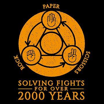 Rock Paper Scissors Solving Fights by udesignstudio