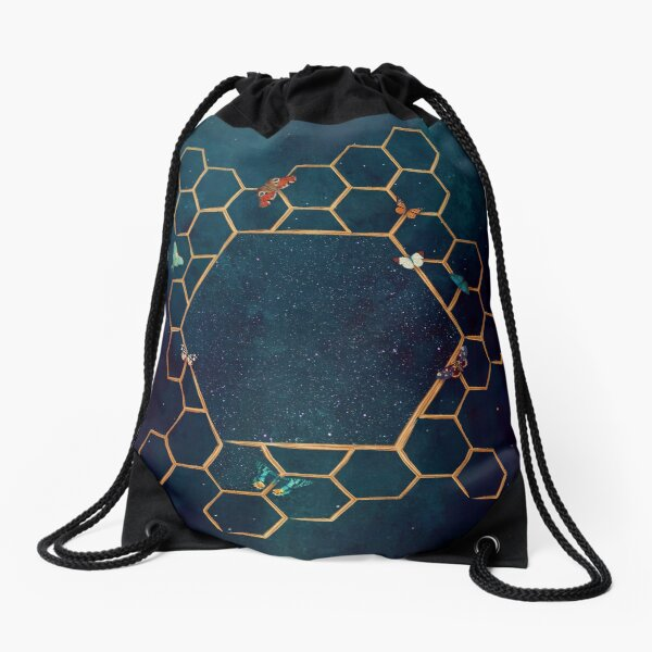 Butterfly invasion Drawstring Bag