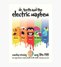 Dr. Teeth and the Electric Mayhem Art Print