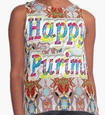 Happy Purim! pattern Contrast Tank