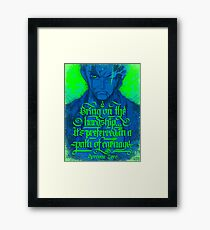 Pirate Hunter - quote Framed Print