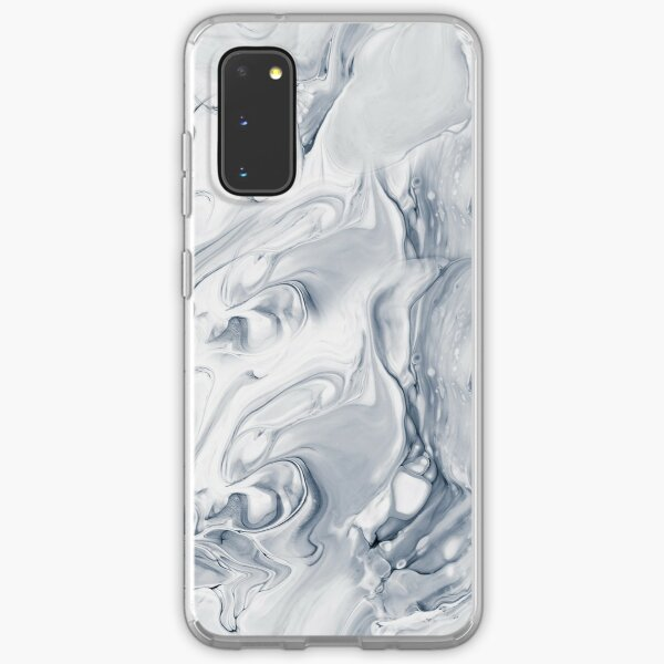 Gray abstract hand painted seamless pattern Samsung Galaxy Soft Case