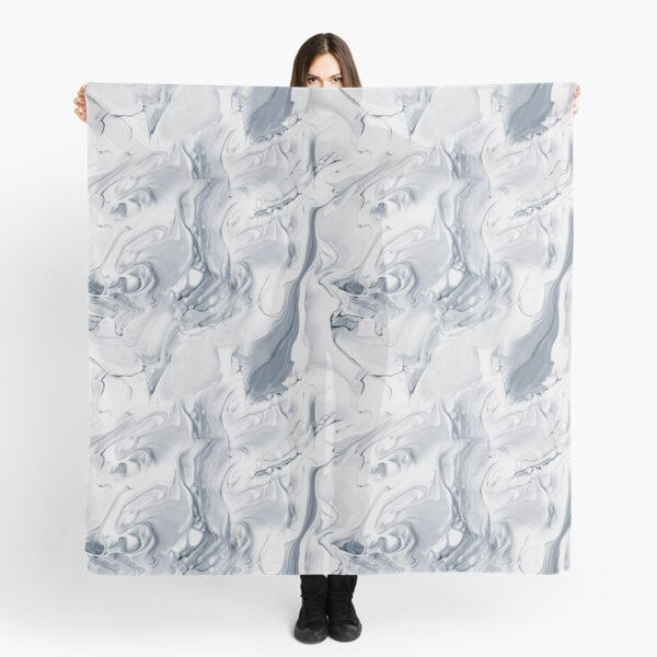 Gray abstract hand painted seamless pattern Scarf