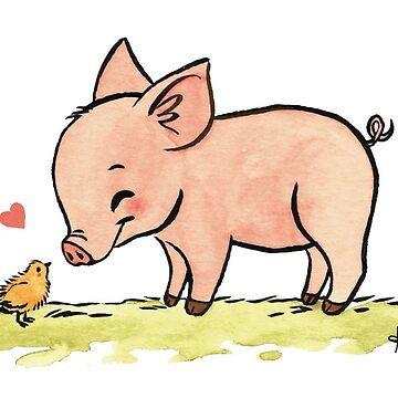 Little Pig Vegan Love by Garbancitalicia