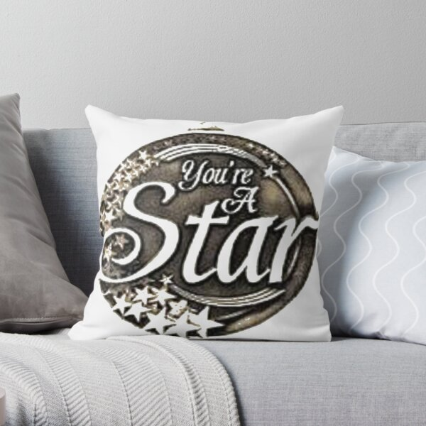 You are a star medal Throw Pillow